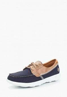 Топсайдеры, Skechers, цвет: синий. Артикул: SK261AWAUFC3. Обувь / Мокасины и топсайдеры