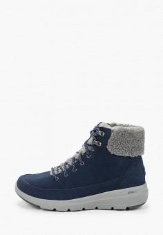 Ботинки, Skechers, цвет: синий. Артикул: SK261AWHIEU7. Обувь / Ботинки / Высокие ботинки