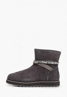 Полусапоги, Skechers, цвет: серый. Артикул: SK261AWHIEV1. Обувь / Сапоги / Полусапоги