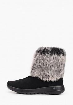 Полусапоги, Skechers, цвет: черный. Артикул: SK261AWHIEV9. Обувь / Сапоги / Полусапоги