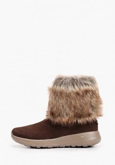 Полусапоги, Skechers, цвет: коричневый. Артикул: SK261AWHIEW0. Обувь / Сапоги / Полусапоги