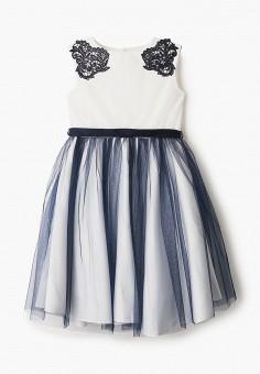 Платье, Sly, цвет: белый. Артикул: SL005EGIFBG7. Девочкам / Одежда / Платья и сарафаны