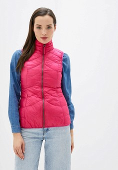 Жилет утепленный, SMF, цвет: розовый. Артикул: SM007EWHOCD4. Одежда / Верхняя одежда / Жилеты
