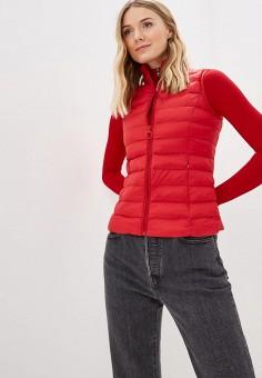 Жилет утепленный, Softy, цвет: красный. Артикул: SO017EWFBJV3. Одежда / Верхняя одежда / Жилеты
