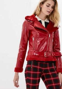 Дубленка, Softy, цвет: красный. Артикул: SO017EWGTWD4. Одежда / Верхняя одежда / Шубы и дубленки