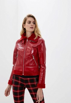 Дубленка, Softy, цвет: красный. Артикул: SO017EWGTWD6. Одежда / Верхняя одежда / Шубы и дубленки