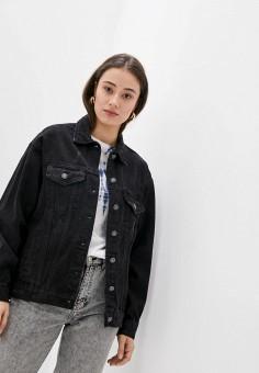Куртка джинсовая, Softy, цвет: черный. Артикул: SO017EWJINM5. Одежда / Верхняя одежда / Демисезонные куртки