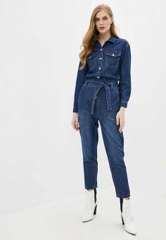 Комбинезон джинсовый, Softy, цвет: синий. Артикул: SO017EWJINO6. Одежда / Комбинезоны