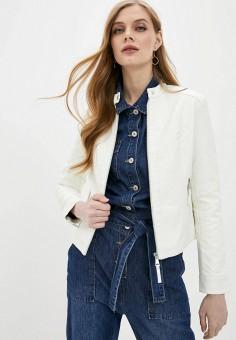 Куртка кожаная, Softy, цвет: белый. Артикул: SO017EWJINR4. Одежда / Верхняя одежда / Кожаные куртки