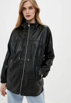 Куртка кожаная, Softy, цвет: черный. Артикул: SO017EWJINT5. Одежда / Верхняя одежда / Кожаные куртки