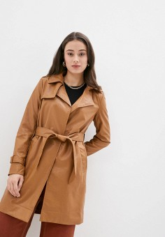 Плащ, Softy, цвет: коричневый. Артикул: SO017EWJINU5. Одежда / Верхняя одежда / Плащи и тренчи