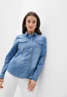 Рубашка джинсовая, Softy, цвет: голубой. Артикул: SO017EWJINV3. Одежда / Блузы и рубашки / Рубашки