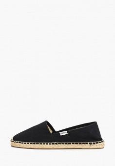 Эспадрильи, Soludos, цвет: черный. Артикул: SO023AWROX26. Обувь / Эспадрильи