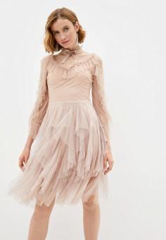 Платье, Soky & Soka, цвет: бежевый. Артикул: SO039EWLOVP3. Одежда / Платья и сарафаны / Вечерние платья