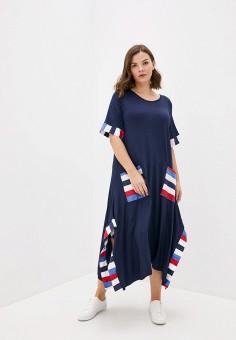 Платье, Sophia, цвет: синий. Артикул: SO042EWIAMT1. Одежда / Одежда больших размеров