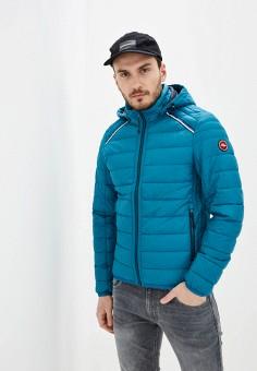 Куртка утепленная, s.Oliver, цвет: бирюзовый. Артикул: SO917EMHNVR4. Одежда / Верхняя одежда / Демисезонные куртки