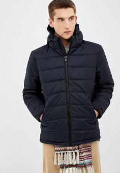 Куртка утепленная, Springfield, цвет: синий. Артикул: SP014EMGCPT1. Одежда / Верхняя одежда / Пуховики и зимние куртки / Зимние куртки
