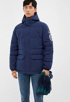 Куртка утепленная, Springfield, цвет: синий. Артикул: SP014EMGCPT5.