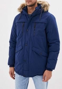 Куртка утепленная, Springfield, цвет: синий. Артикул: SP014EMGFAQ7. Одежда / Верхняя одежда / Парки