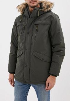 Куртка утепленная, Springfield, цвет: хаки. Артикул: SP014EMGFAQ8. Одежда / Верхняя одежда / Демисезонные куртки