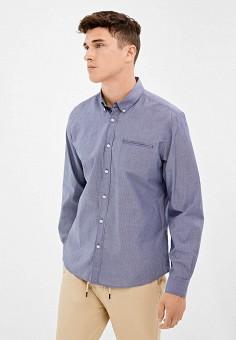 Рубашка, Springfield, цвет: синий. Артикул: SP014EMGFAV5.