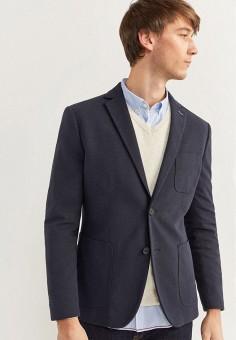 Пиджак, Springfield, цвет: синий. Артикул: SP014EMHVGR8.