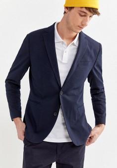 Пиджак, Springfield, цвет: синий. Артикул: SP014EMHVGR9.