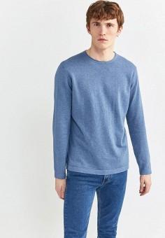 Джемпер, Springfield, цвет: голубой. Артикул: SP014EMHVGV2. Одежда / Джемперы, свитеры и кардиганы / Джемперы и пуловеры