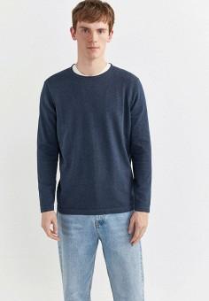 Джемпер, Springfield, цвет: синий. Артикул: SP014EMHVGW1. Одежда / Джемперы, свитеры и кардиганы / Джемперы и пуловеры
