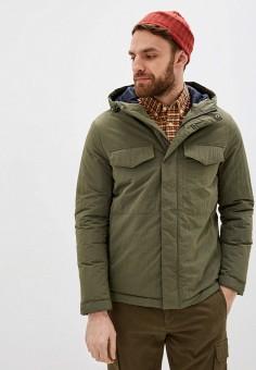 Куртка утепленная, Springfield, цвет: хаки. Артикул: SP014EMHVHA9. Одежда / Верхняя одежда / Демисезонные куртки