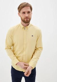 Рубашка, Springfield, цвет: желтый. Артикул: SP014EMHVHB2.