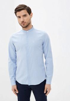 Рубашка, Springfield, цвет: голубой. Артикул: SP014EMHVHB5.