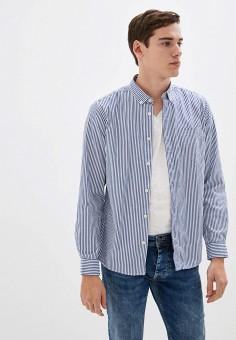 Рубашка, Springfield, цвет: синий. Артикул: SP014EMHVHB6.