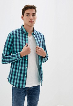 Рубашка, Springfield, цвет: зеленый. Артикул: SP014EMHVHC3.