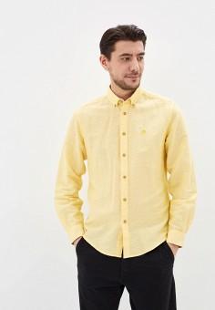 Рубашка, Springfield, цвет: желтый. Артикул: SP014EMHVHD6.