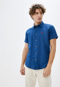 Рубашка, Springfield, цвет: синий. Артикул: SP014EMHVHE0.