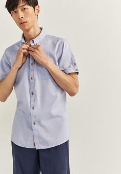 Рубашка, Springfield, цвет: голубой. Артикул: SP014EMHVHE3.