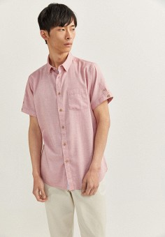 Рубашка, Springfield, цвет: розовый. Артикул: SP014EMHVHE4.