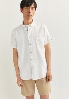Рубашка, Springfield, цвет: белый. Артикул: SP014EMHVHE5.