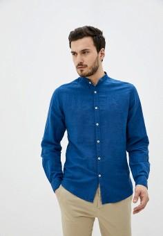 Рубашка, Springfield, цвет: синий. Артикул: SP014EMHVHE6.