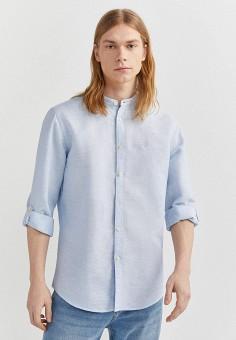 Рубашка, Springfield, цвет: голубой. Артикул: SP014EMHVHE7.