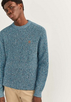 Джемпер, Springfield, цвет: голубой. Артикул: SP014EMHXBO2. Одежда / Джемперы, свитеры и кардиганы / Джемперы и пуловеры