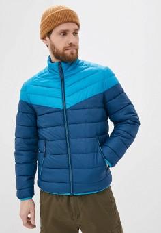 Куртка утепленная, Springfield, цвет: синий. Артикул: SP014EMHXBP1.