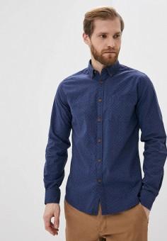 Рубашка, Springfield, цвет: синий. Артикул: SP014EMHXBP8.