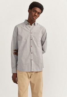 Рубашка, Springfield, цвет: серый. Артикул: SP014EMHXBP9.