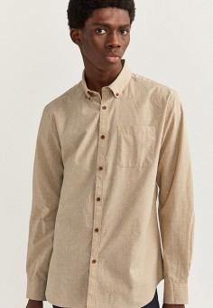 Рубашка, Springfield, цвет: бежевый. Артикул: SP014EMHXBQ0.