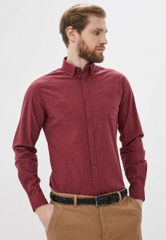 Рубашка, Springfield, цвет: бордовый. Артикул: SP014EMHXBQ1.