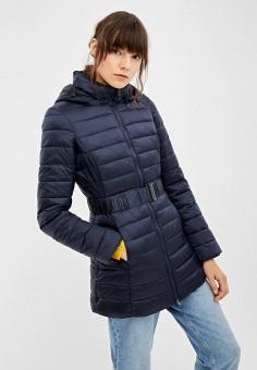 Куртка утепленная, Springfield, цвет: синий. Артикул: SP014EWGEZA3. Одежда / Верхняя одежда / Демисезонные куртки