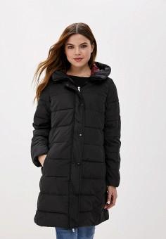 Пуховик, Springfield, цвет: черный. Артикул: SP014EWGEZA5. Одежда / Верхняя одежда / Пуховики и зимние куртки / Пуховики