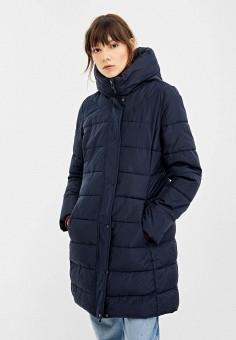 Пуховик, Springfield, цвет: синий. Артикул: SP014EWGEZA6. Одежда / Верхняя одежда / Пуховики и зимние куртки / Пуховики